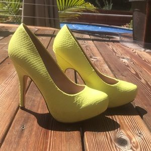 Lemon Yellow Pump